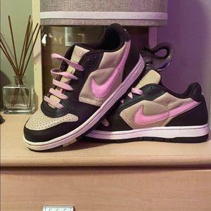 Rare Brown and Baby Pink Nike Air